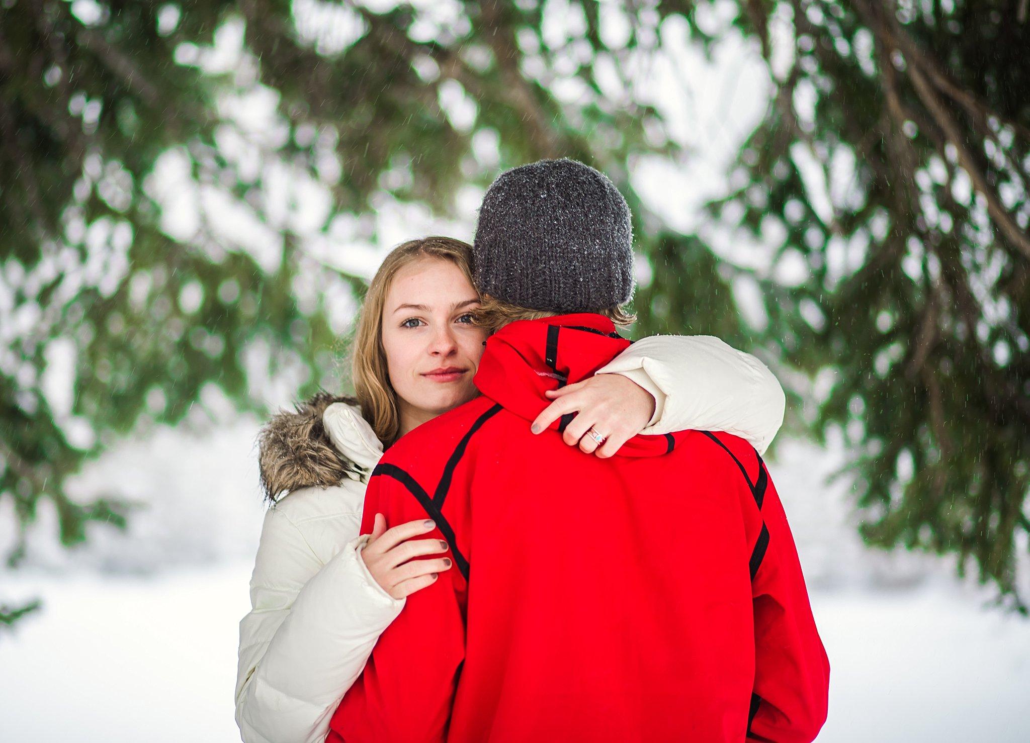 Salt Lake City,couple,engagement,friends,love,snow,winter,