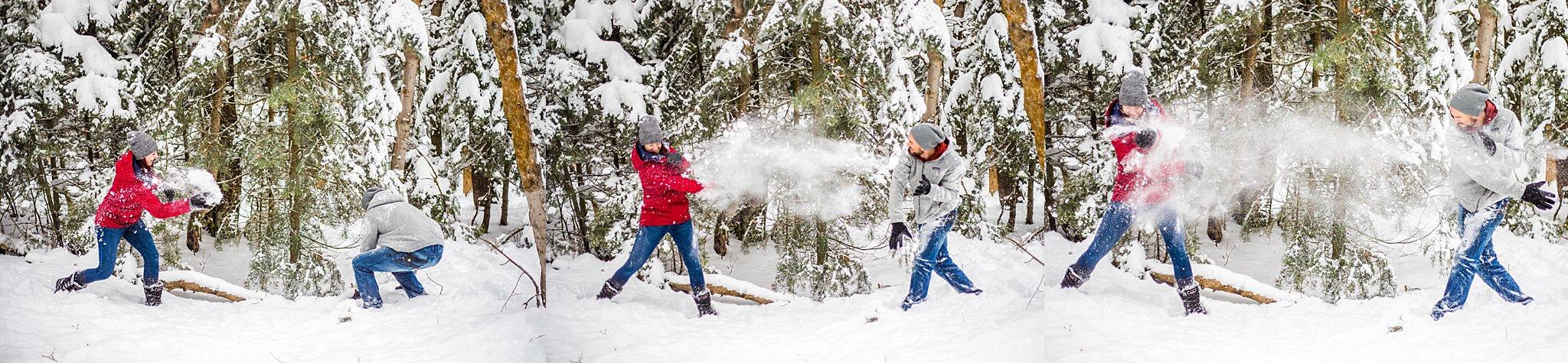 couple photography, salt lake city engagement photographer, millcreek canyon engagement photography, snowy engagement session, mountain engagement