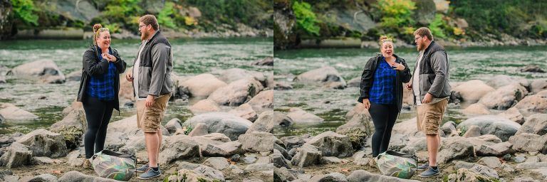 proposal photographer, surprise proposal, snoqualmie falls, snoqualmie falls photography, snoqualmie falls engagement